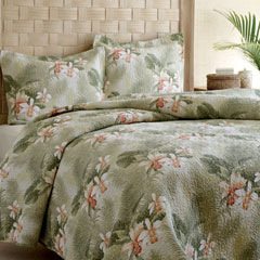 Tommy Bahama Tropical Orchid Quilt