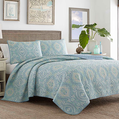 Tommy Bahama Turtle Cove Bluegrass Quilt Set