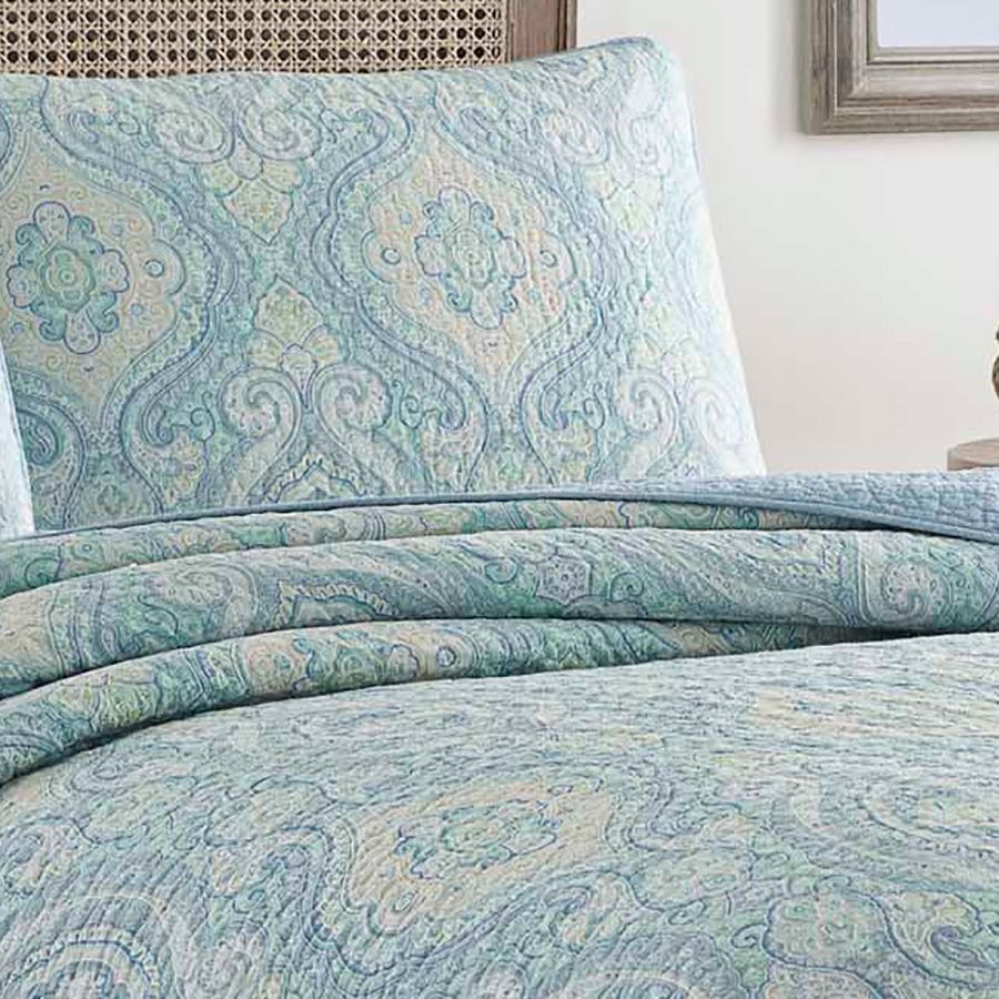 Tommy Bahama Turtle Cove Bluegrass Quilt Set From