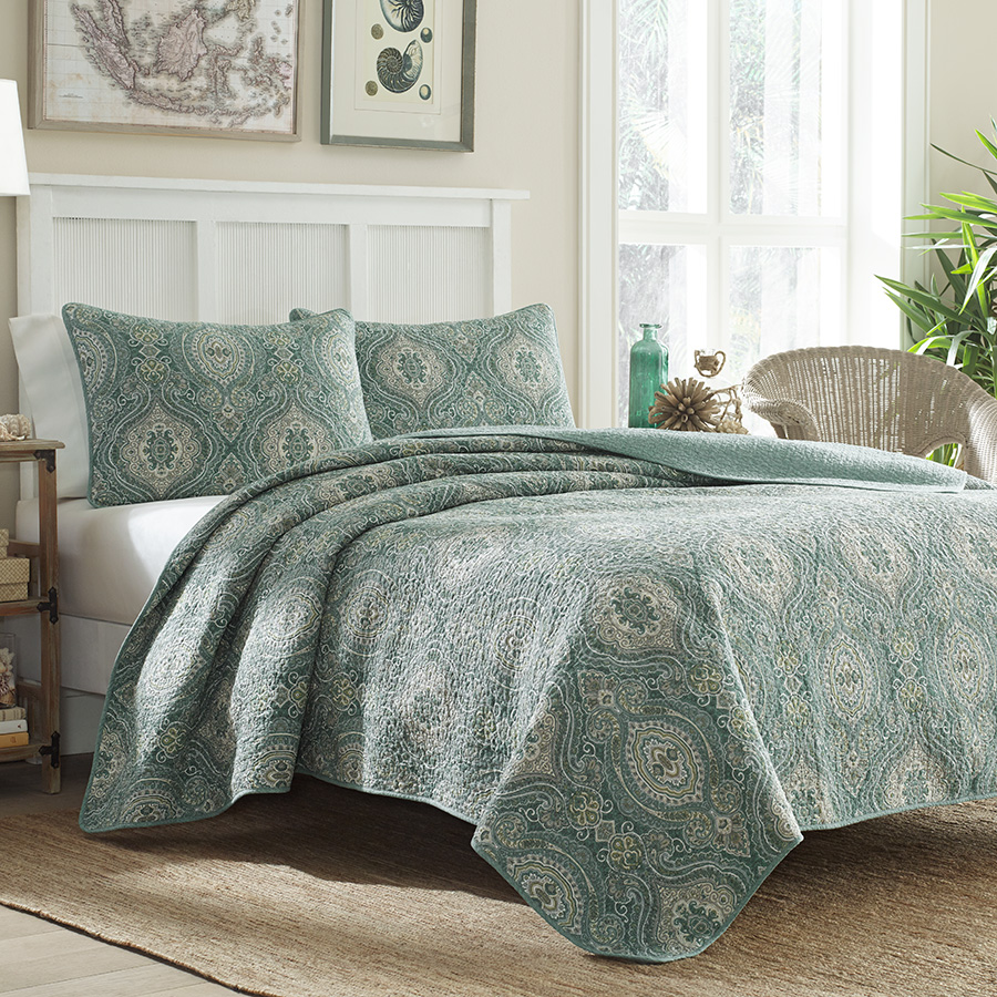 Full Queen Quilt Set Tommy Bahama Turtle Cove