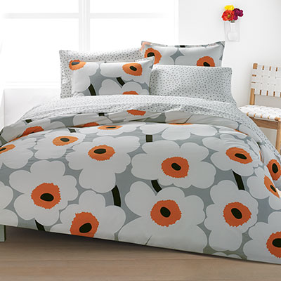 Marimekko Unikko Orange Duvet Set