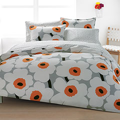 Unikko Orange Duvet Set