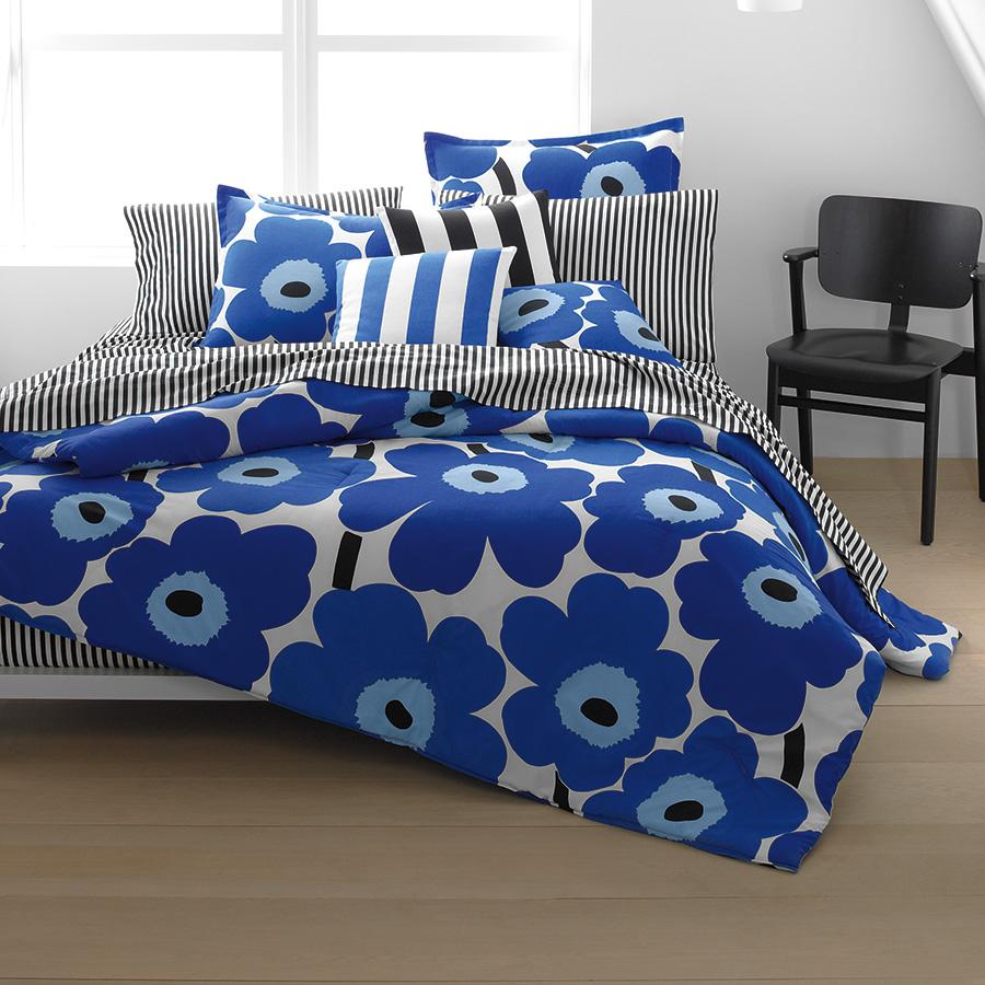 Marimekko Unikko True Blue Duvet Cover Amp Comforter Sets