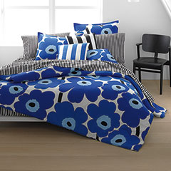 Unikko True Blue Duvet Cover and Comforter Sets