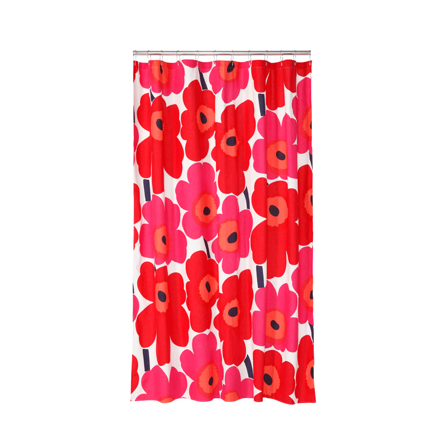 Beddingstyle Unikko Red Shower Curtain