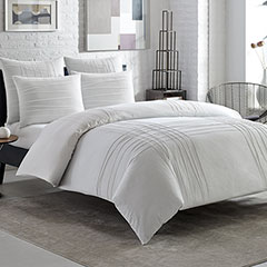 City Scene Variegated Pleats Comforter & Duvet Set