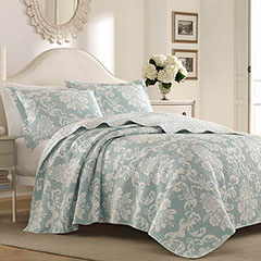 Laura Ashley Venetia Duck Egg Quilt Set