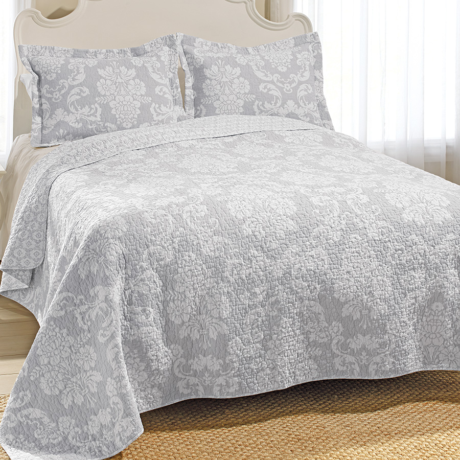 Laura Ashley Venetia Gray Quilt Set From Beddingstyle Com