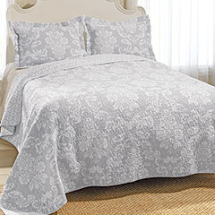 Laura Ashley Venetia Gray Quilt Set