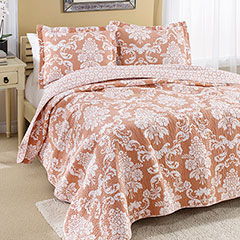 Laura Ashley Venetia Coral Quilt Set