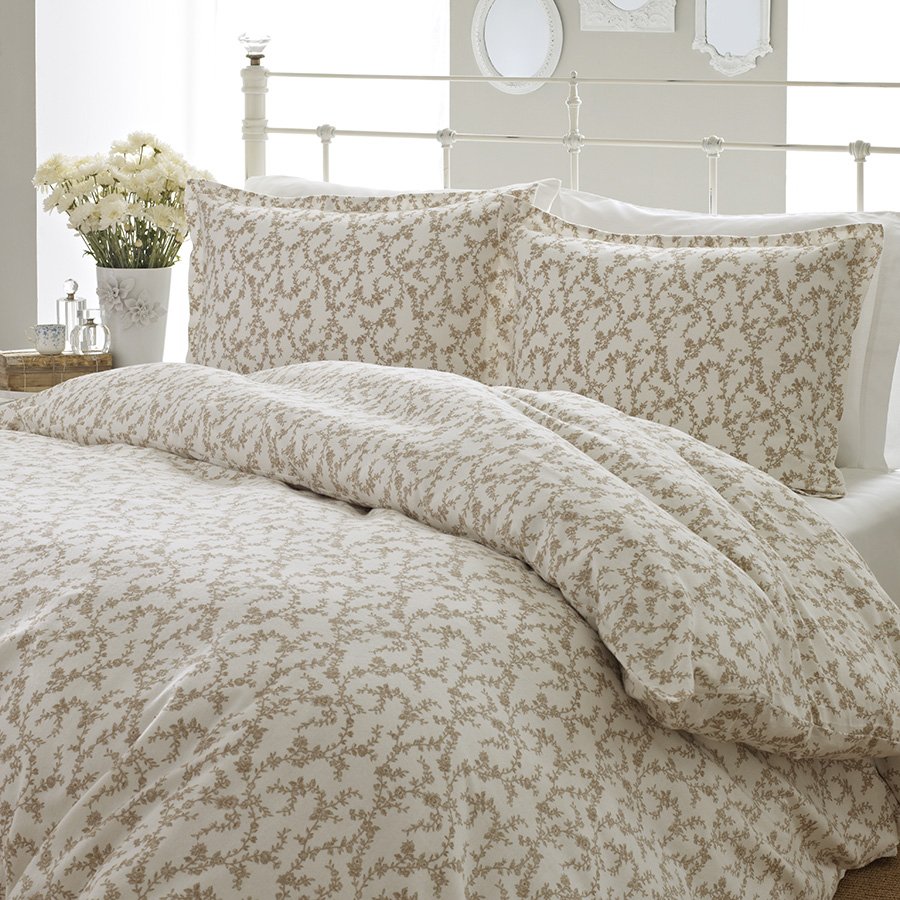 Laura Ashley Victoria Flannel Duvet Cover From
