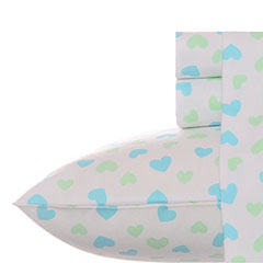 Teen Vogue Vintage Hearts Flannel Sheet Set