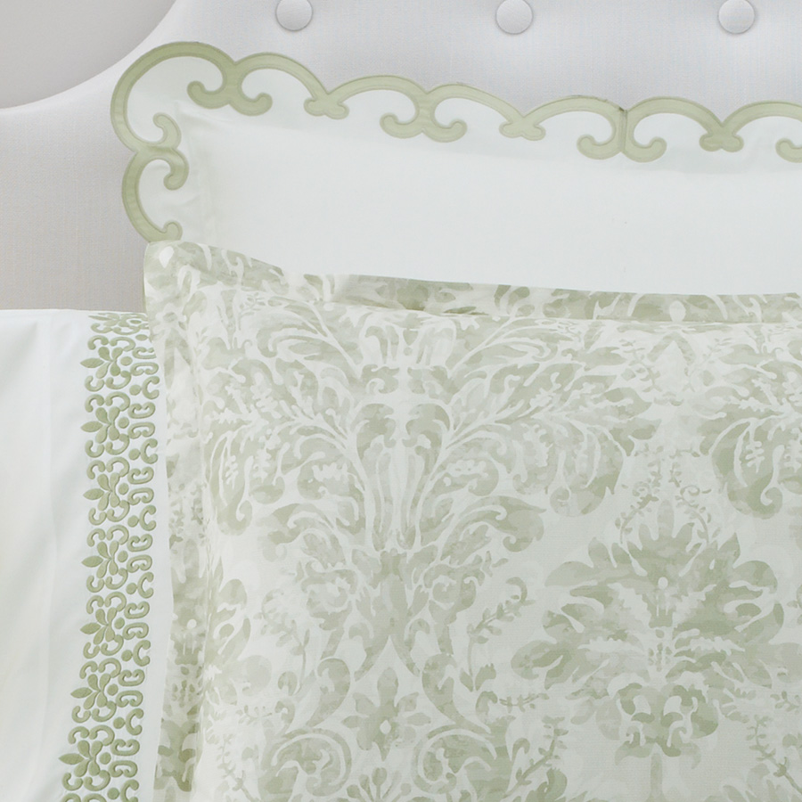 Teen vogue bedding watercolor garden - Aerin Watercolor Damask Duvet Cover From Beddingstyle Com