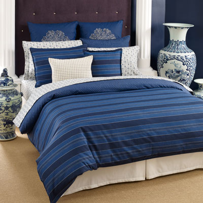 Tommy Hilfiger Westerly Stripe Sheet Set Queen Blue