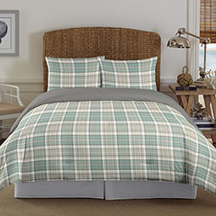 Westmont Plaid Aqua Comforter Set