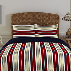 Westmont Stripe Biking Red Comforter Set