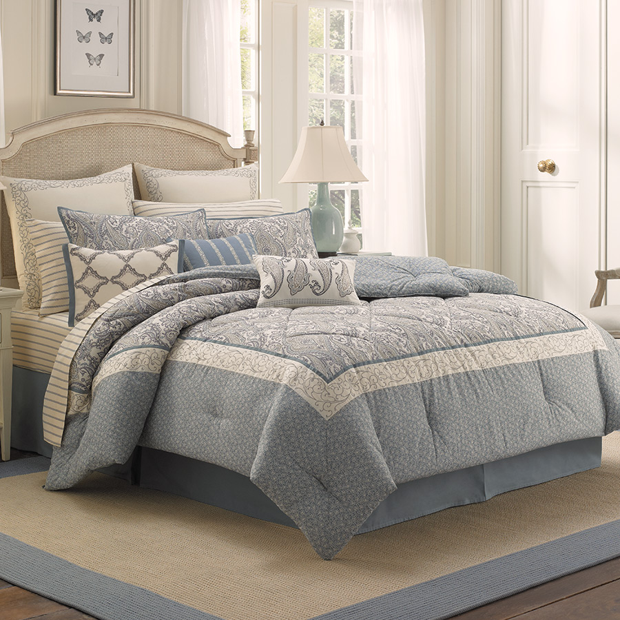 Laura ashley whitfield bedding collection from - Bedroom sheets and comforter sets ...
