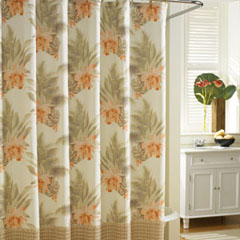 Wicker Floral Shower Curtain