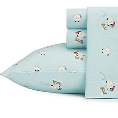 Stone Cottage Winter Sheep Flannel Sheet Set