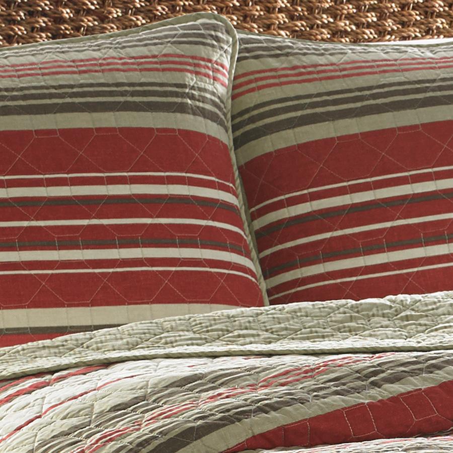 Eddie Bauer Yakima Valley Stripe Red Quilt Set From