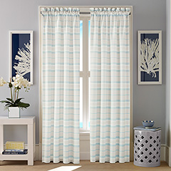 Nautica Yandup Stripe Window Drapes