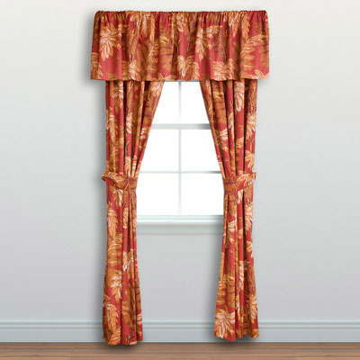 Tommy Bahama Orange Cay Window Treatment